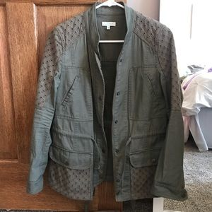 Olive Green Utility Jacket from Francescas
